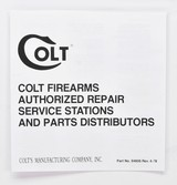 Colt Cap And Ball Revolvers Manual, Repair Stations List And Colt Letter. 1978. - 4 of 5