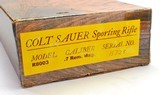Colt Sauer 'Sporting Rifle' 7mm Mag. Grade IV Whitetail Scene. New In Box - 12 of 12