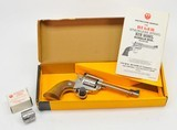 Ruger New Model Single-Six .22 LR-.22 MAG Convertible. Model 0625. 5 1/2 Inch Stainless. Excellent Condition. In Factory Box