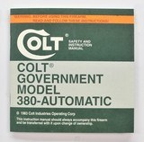 Colt Government Model 380 Automatic Manual, Repair Station List And Letter. 1983 - 2 of 5