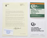 Colt Service Model ACE 22LR Automatic Pistol Manual, Repair Station List And Letter. 1981