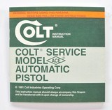 Colt Service Model ACE 22LR Automatic Pistol Manual, Repair Station List And Letter. 1981 - 2 of 5