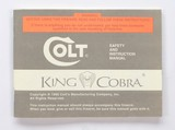 Colt King Cobra Manual, Repair Stations List, Colt Letter. 1990 - 2 of 5