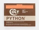 Colt Python Manual, Repair Stations List, Colt Letter. 2003 - 2 of 5