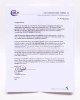 Colt Python Manual, Repair Stations List, Colt Letter. 1993 - 3 of 5