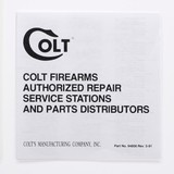 Colt Python Manual, Repair Stations And Colt Letter. 1981 - 4 of 5