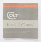 Colt King Cobra Manual, Repair Stations List, Colt Letter. 1986 - 2 of 5