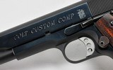 Colt Custom Shop Government Model MKIV/Series 80 Custom Compensated. 45 ACP. Model 01970DB. With Extra Magazine, Original Paperwork & Boxes - 8 of 12