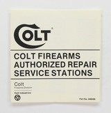 Colt Firearms Authorized Repair Station Manual. Part No. 94806B. Early Edition