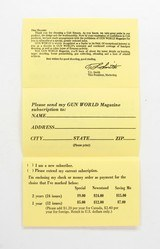 Colt Vintage 'Special Offer From Colt And Gun World' Mailer. Part No. 91698 - 3 of 4