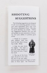 Colt Vintage 'Shooting Suggestions' Pamphlet. Form No. A-247 - 1 of 4
