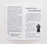Colt Vintage 'Shooting Suggestions' Pamphlet. Form No. A-247 - 3 of 4