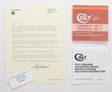 colt lawman mk v, trooper mk v manual, repair stations list, colt letter. 1982