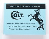 Colt Python Factory Paperwork Packet. 1993 Manual - 8 of 9