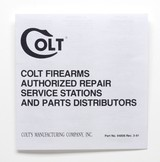 Colt Python Factory Paperwork Packet. 1993 Manual - 4 of 9