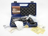 Colt Python 357 Mag. 6 Inch Satin Stainless Finish. Like New In Blue Hard Case. DOM 1981