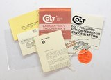 Colt Whitetailer Factory Paperwork Packet. For 1982-1985