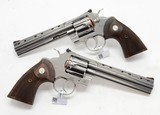 Colt 2020 Python. Consecutive Pair. 6 Inch Stainless Steel. Model SP6WTS. Unique Offer. BRAND NEW In Hard Case. - 4 of 7