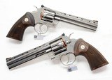 Colt 2020 Python. Consecutive Pair. 6 Inch Stainless Steel. Model SP6WTS. Unique Offer. BRAND NEW In Hard Case. - 3 of 7
