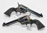 Colt SA Army 45. Consecutive Pair. 5 1/2 Inch Case Colored. Model P1850. Unique Offer. New - 4 of 4