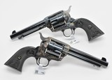 Colt SA Army 45. Consecutive Pair. 5 1/2 Inch Case Colored. Model P1850. Unique Offer. New - 3 of 4