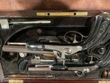 French Traveling Set 4 Pistols Consecutively Numbered in Original Case - 2 of 14