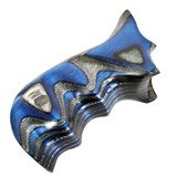 Form Rifle Stocks Chiappa Rhino Combat/Concealed Carry Grips - Blue/Black Laminate