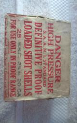 Original Winchester Definitive Proof Loaded Shot Shells 20 GA - 1 of 9