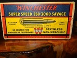 WINCHESTER AND SUPER X AMMO 250 SAVAGE AND 22 HIGH POWER