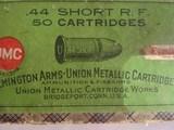 UMC REMINGTON ARMS - UNION METALLIC CARTRIDGE CO. .44 SHORT RF - 50 ROUNDS - 2 of 13