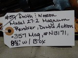 SMITH & WESSON MODEL 27-2 357 MAG LIKE NEW IN BOX - 4 of 9