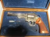 """smith & wesson model 57 nickel6"""" barrel 41 mag"""