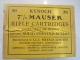 KYNOCK 7MM MAUSER 140 GRAIN (((50))) IN SEALED BOX