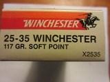 WINCHESTER SUPER-X 25-35 117 GRAIN RN - 2 of 2