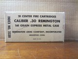 Caliber .30 Remington Center Fire Cartridges