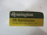 REMINGTON 35 CALIBER ONE BOX FACTORY AMMO 200 GRAIN