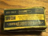 .455 COLT Ammo, Canadian Industries Limited.Dominion, Webley, Smith and Wesson,