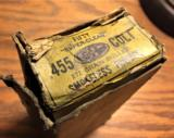 .455 COLT Ammo, Canadian Industries Limited.Dominion, Webley, Smith and Wesson,- 6 of 8