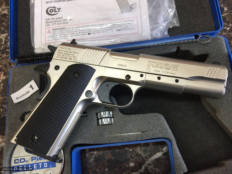 COLT 1911A1 NICKEL  177 CO2 Air Pistol