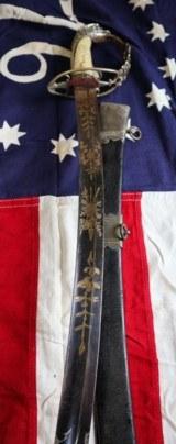 AMERICAN WAR OF 1812 PRESENTATION GRADE HIGH OFFICER EAGLE HEAD SWORD CA 1800-10