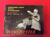 WINCHESTER PARTS & ACCESSORIES CTALOG 1956