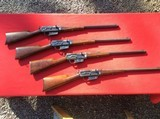COLLECTION OF REMINGTON MODEL 8 RIFLES 25,30,32,35 CAL.
