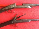 FRENCH ANTIQUE PINFIRE RIFLE AND SHOTGUN - 1 of 7