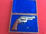 """SMITH & WESSON MODEL 29-2 4"""" BARREL. NICKEL PLATED FACORY ENGRAVED - 5 of 6"""
