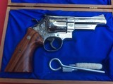 "SMITH & WESSON MODEL 29-2 4"" BARREL. NICKEL PLATED FACORY ENGRAVED - 6 of 6"