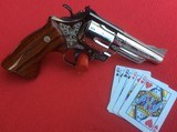 """SMITH & WESSON MODEL 29-2 4"""" BARREL. NICKEL PLATED FACORY ENGRAVED - 2 of 6"""