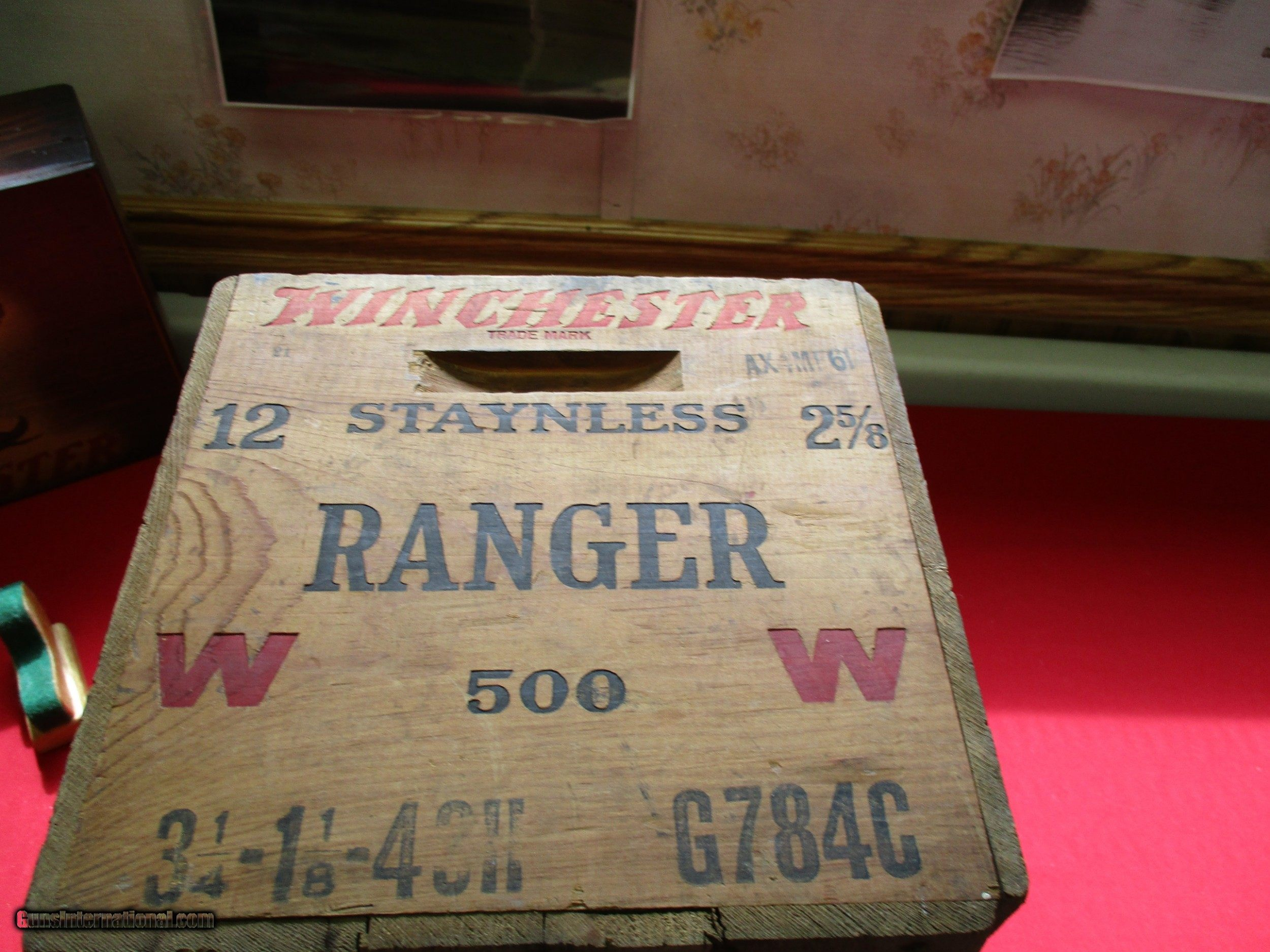 winchester ammo boxes wooden