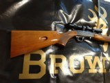 Browning Belgium Grade I SA ATD 22LR W/ Browning scope