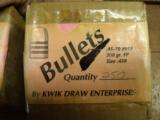 45/70 300 GR FP HARDCAST BULLETS BY KWIK DRAW. 250 CT PER BOX.- I PAY SHIPING - 1 of 2