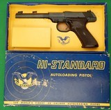 "HI-STANDARD ""Duramatic"" .22 Cal As New in the Box with Papers. 1960s"